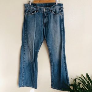 Lucky Brand 32 Dungarees Relaxed Bootleg jeans